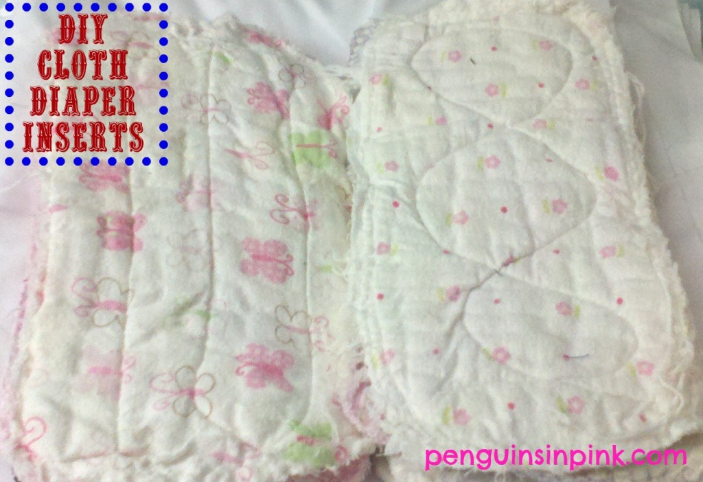 DIY Cloth Diaper Inserts.  An easy tutorial on how to make your own cloth diaper inserts.