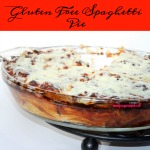 Gluten Free Spaghetti Pie is an easy recipe that yields three meals. Made with sausage, GF noodles, spaghetti sauce, Greek yogurt, and two kinds of cheese make this freezer friendly recipe a winner.