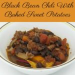 Black Bean Chili With Baked Sweet Potatoes