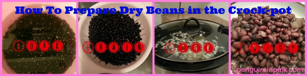 How To Prepare Dry Beans in the Crock-pot - A guide to help you learn how to prepare dried beans so you can enjoy all the health and money saving benefits.