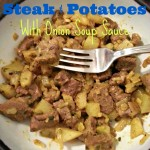 Steak and Potatoes with Onion Soup Sauce