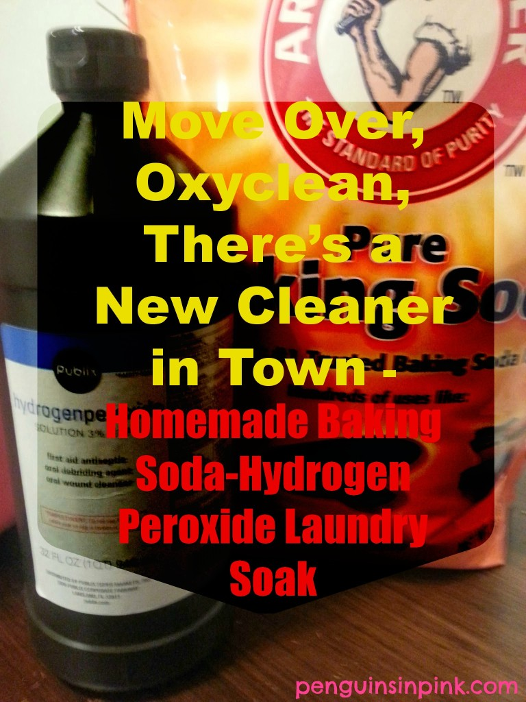 Move Over, Oxyclean, There's a New Cleaner in Town - Homemade Baking Soda-Hydrogen Peroxide Laundry Soak - For when life hands you big messes you know those stains need more than pretreater try using my Homemade Baking Soda-Hydrogen Peroxide Laundry Soak #DIY #homemade #homemadecleaner