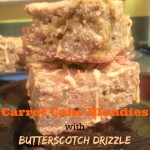 Carrot Cake Blondies with Butterscotch Drizzle (Gluten Free)