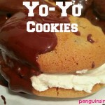 Yo-Yo Cookies - Chocolate chip cookies sandwiched between buttercream icing and dipped in melted chocolate! Yo-yo cookies are AWESOME!