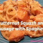 Butternut Squash and Sausage with Spaghetti