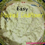 Easy Mashed Cauliflower - A very simple recipe for delicious easy mashed cauliflower and two additional options for adding extra flavor and zip to your mashed cauliflower. THM S style recipe if you follow Trim Healthy Mama lifestyle.