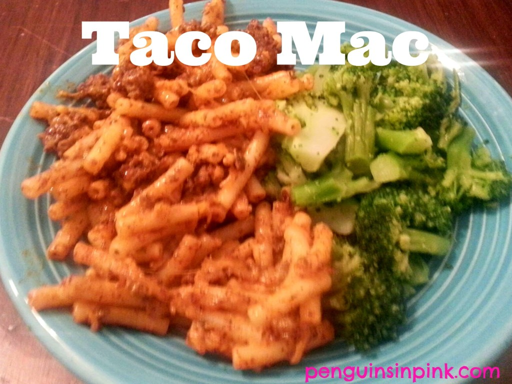 "Taco Mac - A creamy, cheesy, spicy, semi-homemade dish that is great for busy nights or when you need some ""lovin' from the oven"""