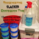 Housekeeping Slacker Confession Time - Throwing myself under the bus today! Yup! I'll admit it I've been very lazy in the housekeeping department this last month.