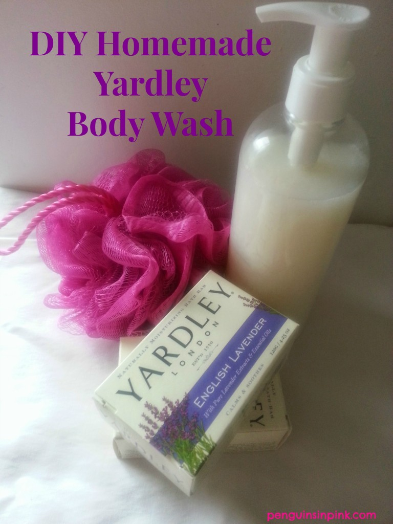 DIY Homemade Yardley Body Wash - Taking one bar Yardley soap and turning it into one gallon of luxurious body wash for just pennies.  No grate method, one gallon of body wash from one bar of soap!  #DIY #homemadebeauty
