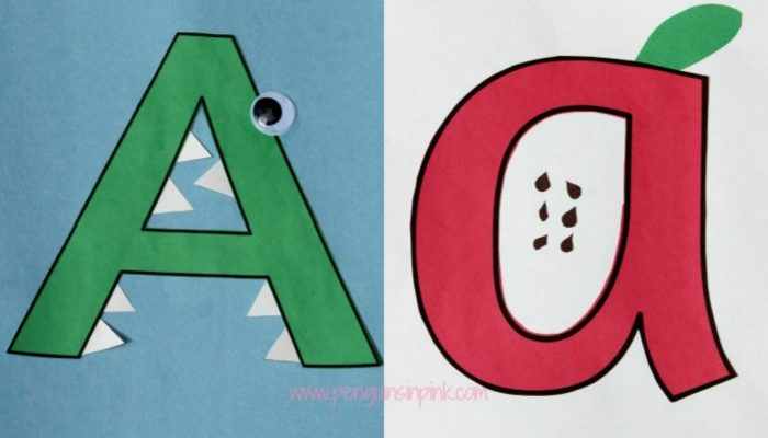 Letter A is for Alligator and Apple Craft