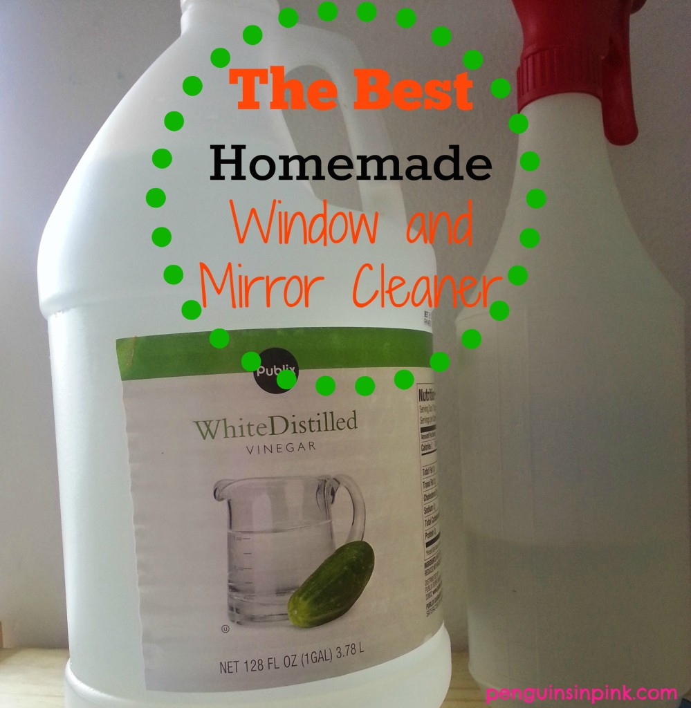 The Best Homemade Window and Mirror Cleaner is easily made with two very common and cheap household ingredients.  The results are sparkling clean windows and mirrors.