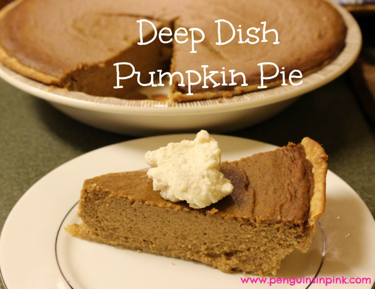 Deep dish pumpkin pie is velvety smooth and creamy, thick and luscious, full of depth and spice due to heavy whipping cream, homemade pumpkin pie spice, and loads of pumpkin puree.