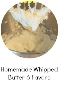 Homemade Whipped Butter 6 flavors