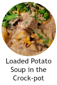 Loaded Potato Soup in the Crock-pot - A potato soup loaded with all the things you like on your baked potatoes. I'm talking bacon, cheese, broccoli, and more! #crockpot #recipe