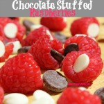 You'll have to try these Chocolate Stuffed Raspberries. Only two ingredients and less than 5 minutes to make the perfect dessert of sweet raspberries stuffed with decadent chocolate.