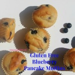 Gluten Free Blueberry Pancake Muffins - Pancake mix, blueberries, and maple syrup combine to make the deliciousness of blueberry pancakes with the ease and portability of blueberry muffins. They also freeze very well.