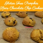 Delicious pumpkin pie spice and pumpkin combine with sweet chocolate to make a soft, moist, yummy cookies! Gluten Free Pumpkin Spice Chocolate Chip Cookies are the perfect afternoon or evening snack.