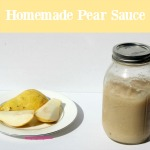 Homemade Pear Sauce is super easy to make on the stove or in the Crock-pot. Enjoy it on top of ice cream, or mixed into yogurt or oatmeal! It's also freezer friendly and makes a great homemade baby food!