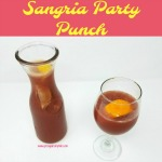 Sangria party punch has become my go-to recipes for a party simply because it is one of the easiest and best sangria recipes ever! This recipe makes a huge punch bowl of delicious sangria that can be stored in the fridge for up to a week.