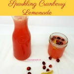 Sparkling Cranberry Lemonade is perfect for adding a festive touch to any holiday party. The sweet tartness of cranberries compliments the sour tang of lemons in a perfect blend that makes for a festive Thanksgiving or Christmas drink.