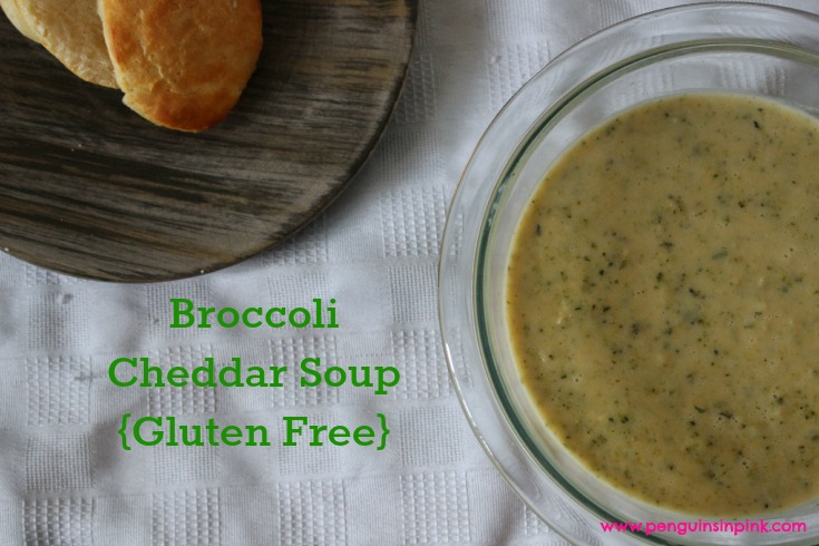 Broccoli Cheddar Soup {Gluten Free} - Homemade, cheesy, creamy, broccoli cheddar soup is the perfect dinner for a winter day when you want feel good comfort food.