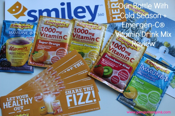 Our Battle With Cold Season + Emergen-C® Vitamin Drink Mix Review - How we faced a nasty cold season this year, the tricks we tried, and a review of a product I used during the process.