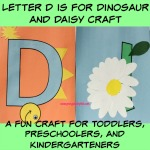 Letter D is for Dinosaur and Daisy Craft is a fun letter a craft making a dinosaur out of a large capital letter D and a daisy out of a large lowercase letter d with directions and free printables too.
