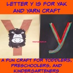 Letter Y is for Yak and Yarn Craft is a fun letter a craft making a yak out of a large capital letter Y and a yak covered large lowercase letter y with directions and free printables too.