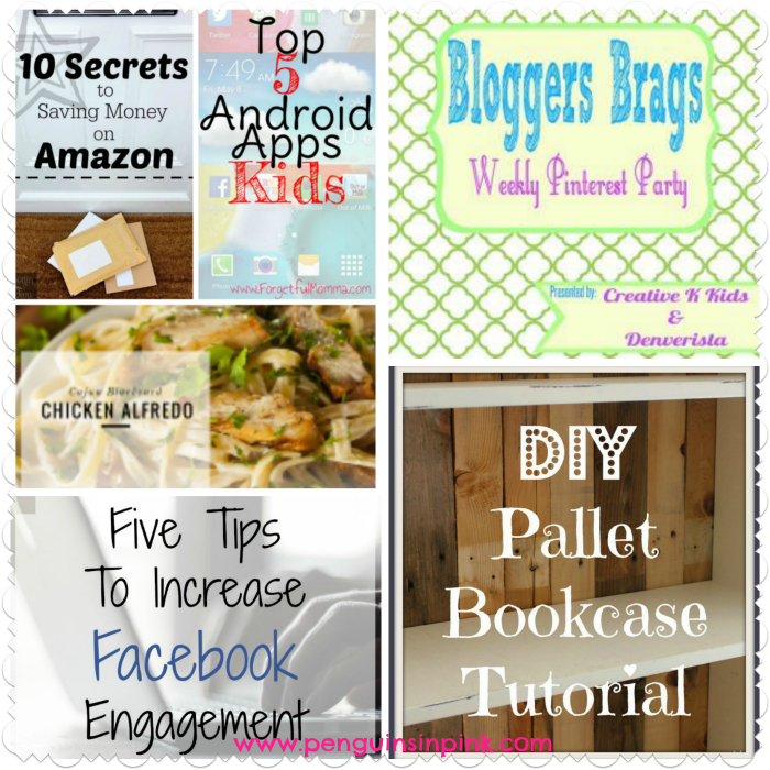 Bloggers Brags Weekly Pinterest Party Wk 79 - Come link up with us and have your posts seen on 6 blogs and find out our featured posts from last week plus my two favorites! #linkup #blogparty