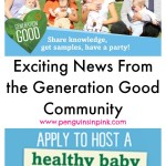 Exciting News From the Generation Good Community