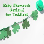 Easy Shamrock Garland for Toddlers