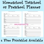Homeschool Totschool Preschool Planner FREE Printable
