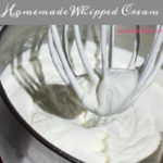 Homemade Whipped Cream - Just 3 ingredients and 6 minutes active time to make an easy to whip up homemade whipped cream that tastes so much better and adds more richness and flavor to everything.
