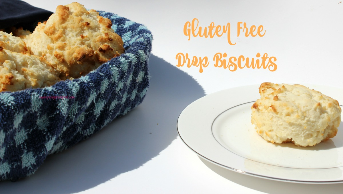 Two ingredient Gluten Free Drop Biscuits are ready in less than 15 minutes from start to finish. These soft and fluffy biscuits are just begging to be served for dinner.