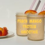Sneak some protein into picky eaters with this delicious Peach Mango Protein Smoothie. Packed with protein, probiotics, and fiber it's a healthy treat for kids!