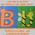 Letter B is for Butterfly and Bee Craft is a fun letter a craft making a butterfly out of a large capital letter B and a bee out of a large lower case letter b with directions and free printables too