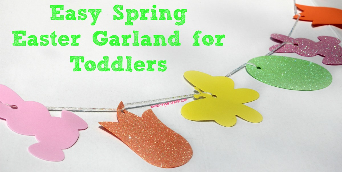 Your little ones will love making this fun and festive Easy Spring Easter Garland for Toddlers. Not only is it super cute but it allows them to practice fine motor skills, math skills, and life skills.