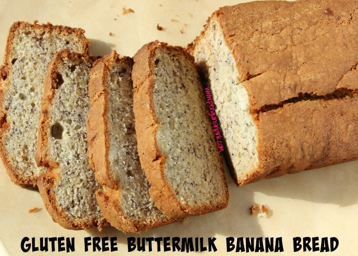 Gluten Free Buttermilk Banana Bread - Buttermilk combines with bananas to make a heavenly banana bread that you will not believe is gluten free too