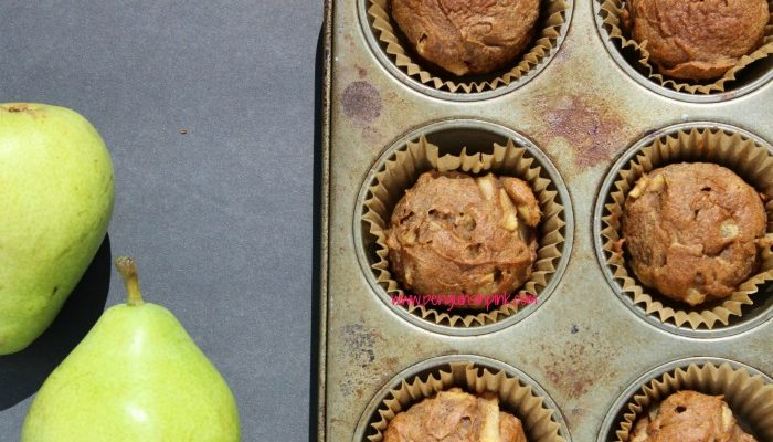 Gluten Free Spiced Pear Muffins