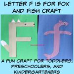 Letter F is for Fox and Fish Craft