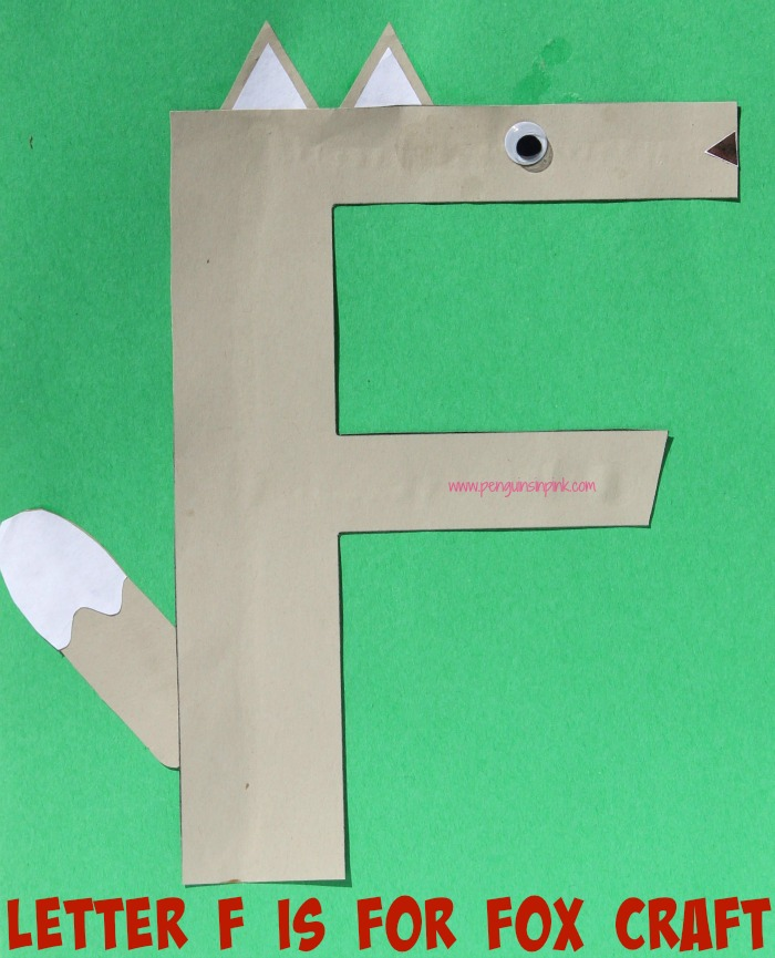 Letter F is for Fox and Fish Craft is a fun letter a craft making a fox out of a large capital letter F and a fish out of a large lowercase letter f with directions and free printables too.