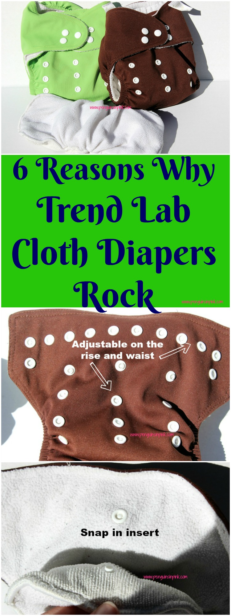 6 Reasons Why Trend Lab Cloth Diapers Rock A detailed review of Trend Lab Cloth Diapers including 6 reasons they rock (snap in liners!) and the 2 faults I found with them