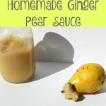 Homemade Ginger Pear Sauce