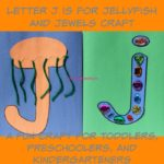 Letter J is for Jellyfish and Jewels Craft