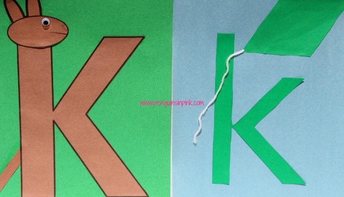 Letter K is for Kangaroo and Kite Craft