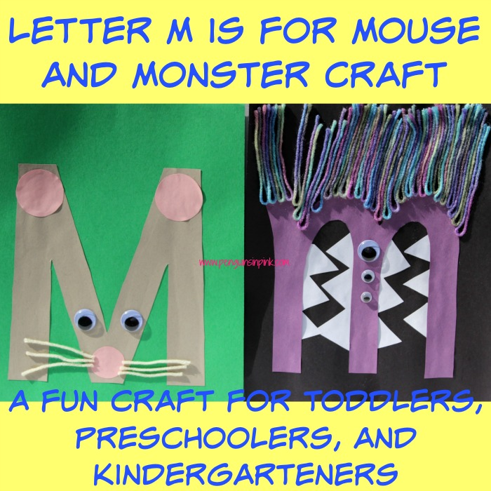 Letter M is for Mouse and Monster Craft