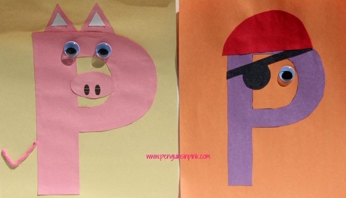 Letter P is for Pig and Pirate Craft