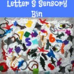 "Letter S Sensory Bin - This shaving cream based sensory bin has it all seals, stars, spiders, and other items beginning with the letter ""S""."