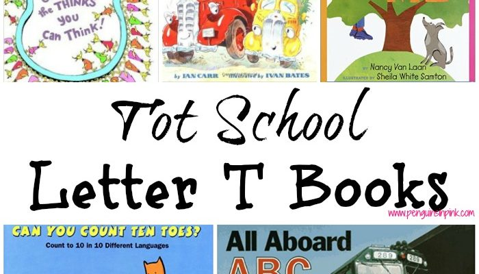 Tot School Letter T Books