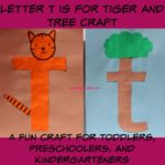 Letter T is for Tiger and Tree Craft is a fun letter a craft making a tiger out of a large capital letter T and a tree out of a large lowercase letter t with directions and free printables too.